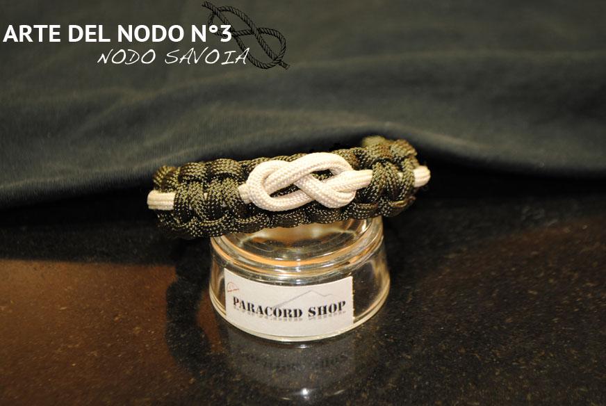 foto ufficiali 43381 8f2f6 Arte del Nodo N°3 , NODO SAVOIA , Bracciale in PARACORD 550 ...
