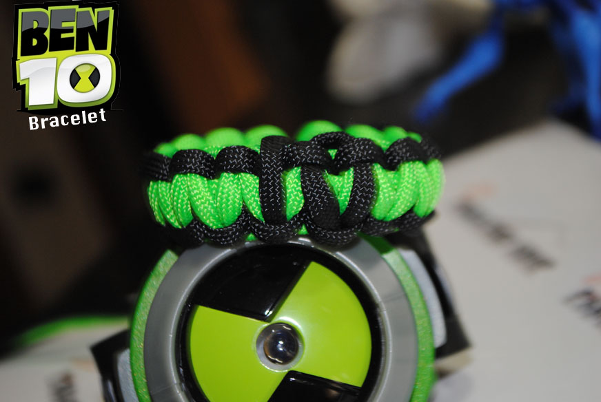 Braccialetto omnitrix in paracord 550 di ben 10 for Bracciale ben ten