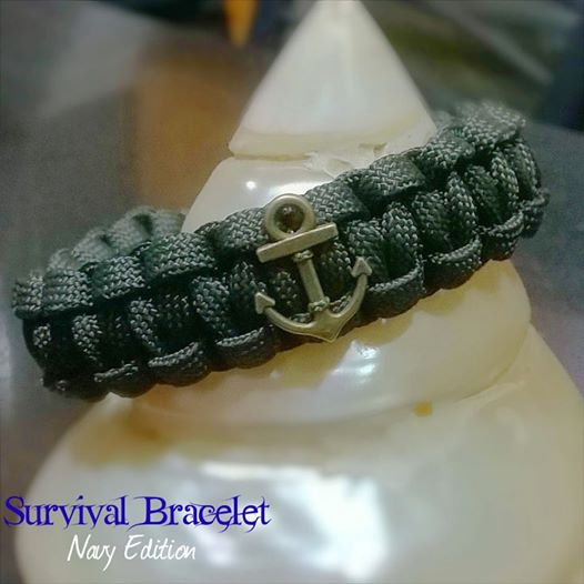 Survival Bracelet Navy Edition