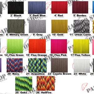 Portachiave Ronny in Paracord 550 originale – Vari colori