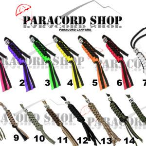 Paracord Lanyard , laccioli per coltello o portachiavi in PARACORD 550 vari colori