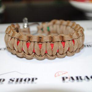 Caccia e Pesca PLUS , bracciale in PARACORD 550 con super kit ami,lenza,piombini,filo teflonato