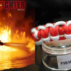 Fire Fighter , Braccialetto in PARACORD 550 dedicato a tutti i Pompieri