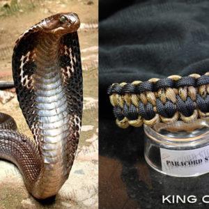 King Cobra, Bracciale in PARACORD 550 ispirato al Re dei Serpenti il COBRA REALE