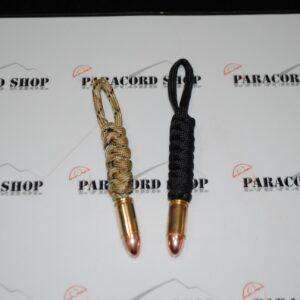 Portachiavi Proiettile SLIM , in PARACORD 550 con proiettile VERO