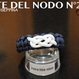 Arte del nodo N°2 Bracciale in PARACORD 550 con nodo marinaio , NODO GIUSEPPINA