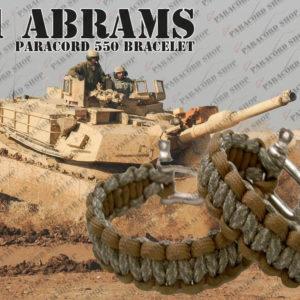 Braccialetto in Paracord 550, M1 Abrams