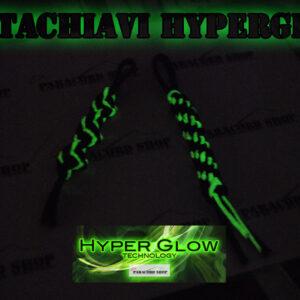 Portachiavi HyperGlow in PARACORD 550 , brilla al buio