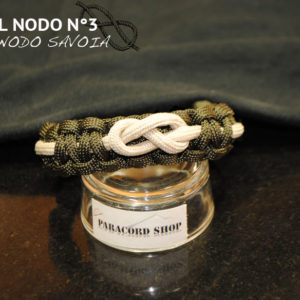 Arte del Nodo N°3 , NODO SAVOIA , Bracciale in PARACORD 550 con nodo marinaro