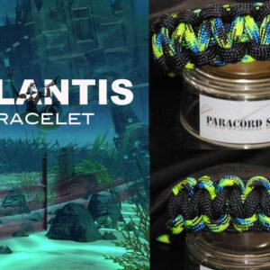 Atlantis , Braccialetto in PARACORD 550 , colori marini