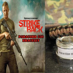 Strike Back , PARACORD 550 Bracelet , braccialetto in PARACORD 550 ispirato alla serie
