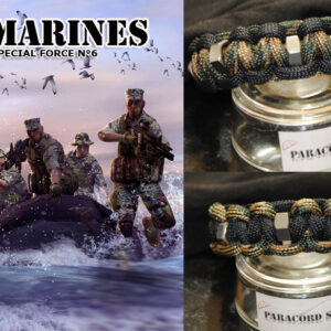 Special Force N6 MARINES , Braccialetto in PARACORD 550