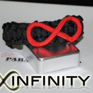 Infinity Braccialetto in PARACORD 550 con simbolo dell'infinito