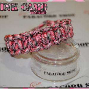 Pink Camo Bracelet – Bracciale in PARACORD 550