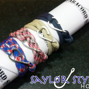Sailor Style Hook , Bracciale in PARACORD 550 con Amo
