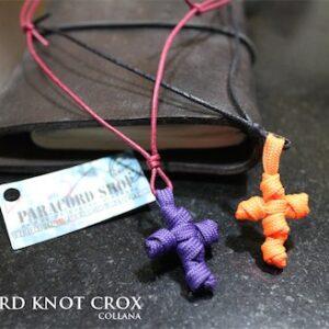 Paracord 550 Knot Crox – collana con ciondolo croce in PARACORD 550
