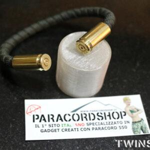 TWINSHOT – bracciale rigido in paracord 550 e bossoli
