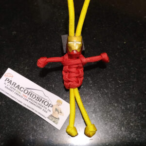 Paracord buddy Iron Man avengers, in resina fatto a mano